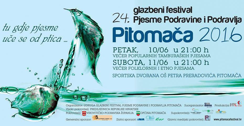 plakat 24. glazbeni festival pjesme podravine i podravlja