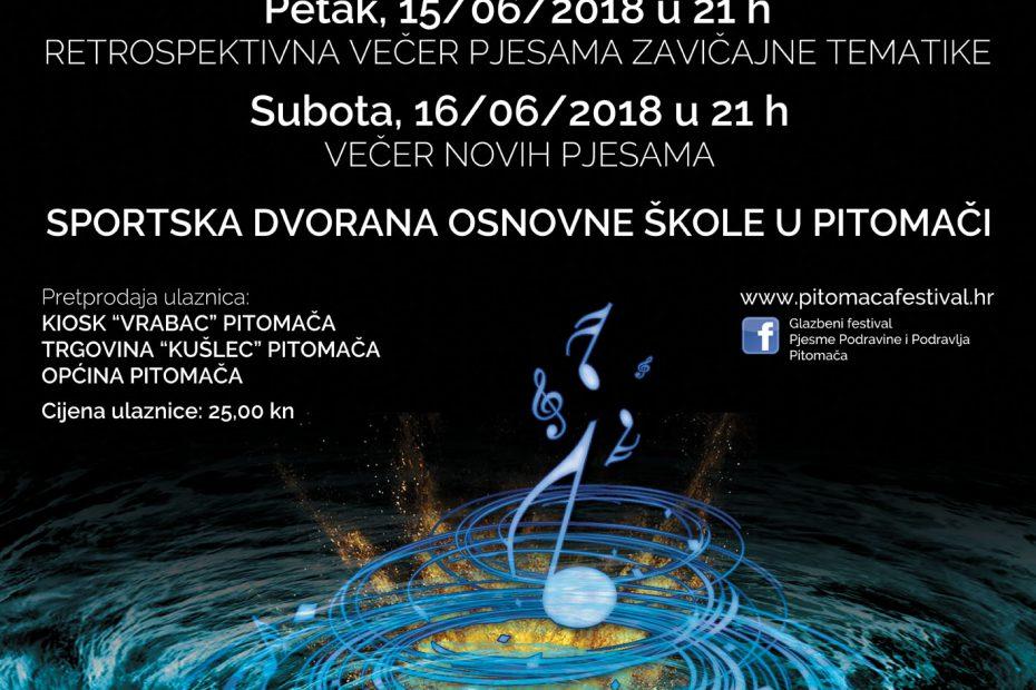 plakat pjesme podravine i podravlja 2018.