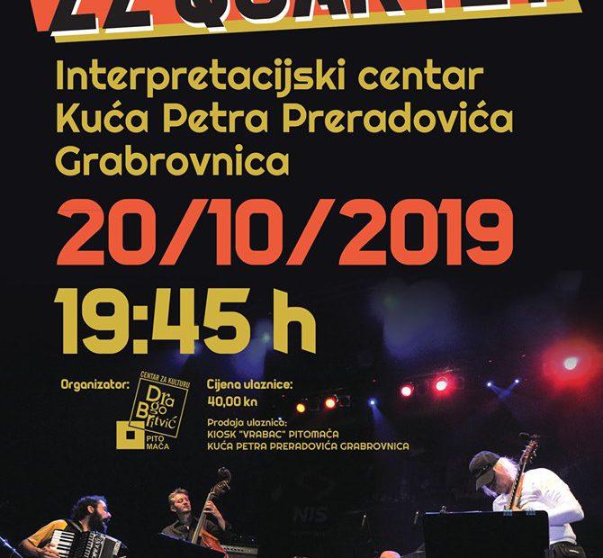 koncert zz kvartet, plakat